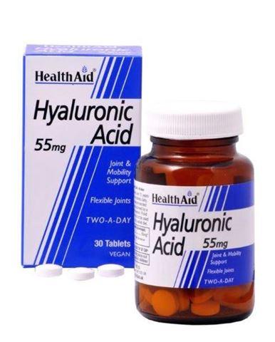 Health Aid Υαλουρονικό Οξύ 55mg, 30 Ταμπλέτες