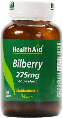 Health Aid Bilberry 30 Ταμπλέτες