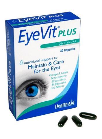 Health Aid EyeVit Plus, 30 Κάψουλες