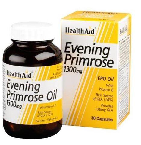 Health Aid Evening Primrose Oil 1300mg, 30 Κάψουλες