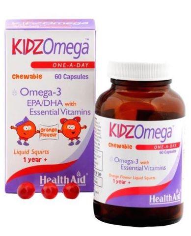 Health Aid KIDZ Omega with Vitamins 60 Μασώμενες Κάψουλες