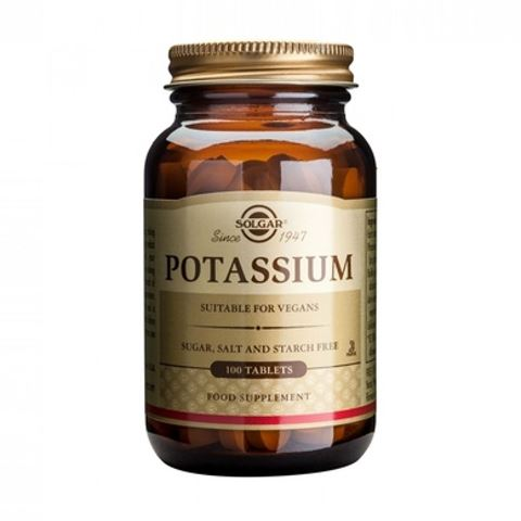 Solgar Potassium Gluconate 99mg, 100 Ταμπλέτες