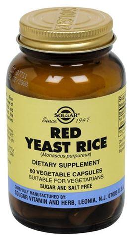 Solgar Red Yeast Rice Extract 600mg, 60 Φυτικές Κάψουλες