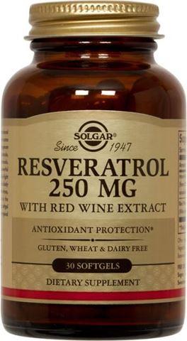 Solgar Resveratrol 250mg, 30 Μαλακές Κάψουλες