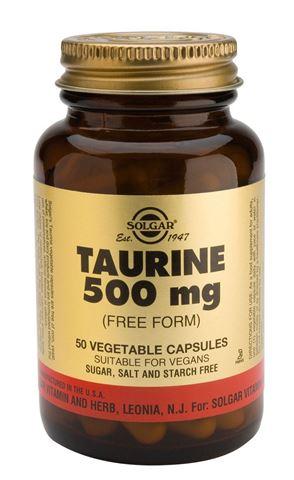 Solgar Taurine 500mg, 50 Φυτικές Κάψουλες