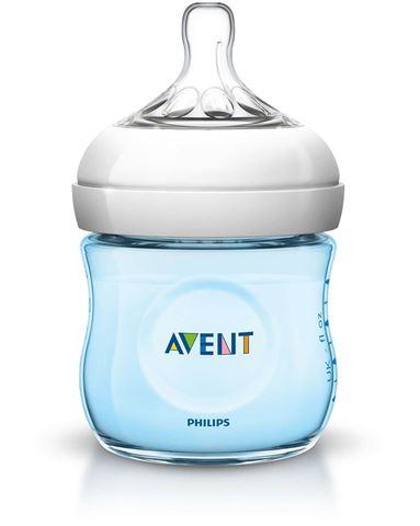 Avent Natural Πλαστικό Μπιμπερό 125ml - χωρίς BPA Μπλε SCF692/17, 0m+