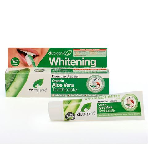 Dr. Organic, Organic Aloe Vera Toothpaste (Whitening) 100ml