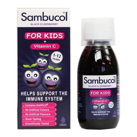 Sambucol Black Elderberry For Kids + Vitamin C 120ml