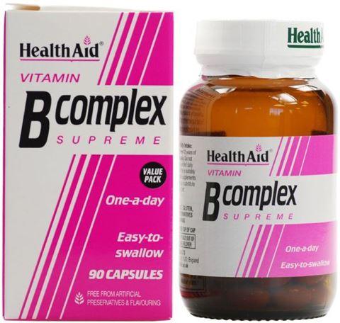Health Aid Βιταμίνη B Complex Supreme 90 Κάψουλες