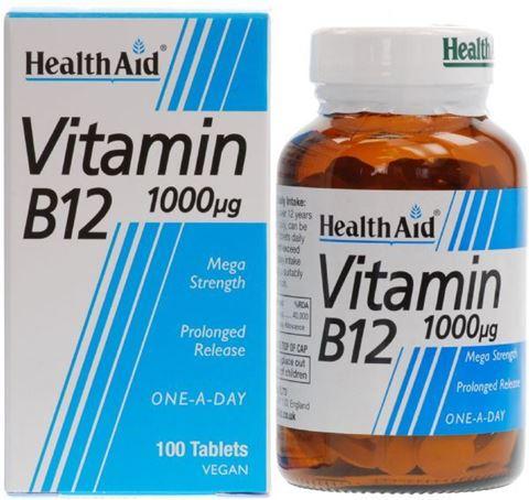 Health Aid Βιταμίνη B12, 100 Ταμπλέτες