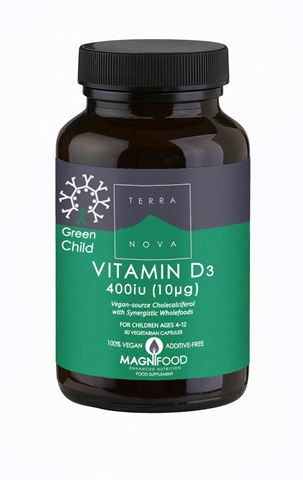 Terranova Green Child Vitamin D3 400 iu 50 Κάψουλες