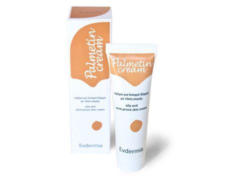 Evdermia Palmetin Cream 30ml Κρέμα για Λιπαρό Δέρμα με Τάση για Ακμή