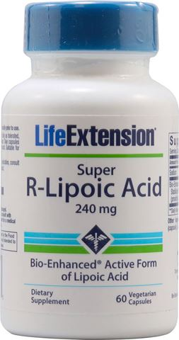 Life Extension Super R-Lipoic Acid 240mg, 60 Φυτικές Κάψουλες