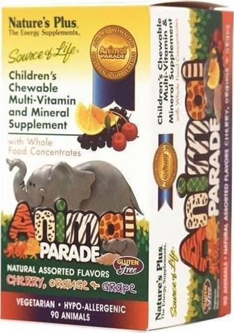 Nature's Plus Animal Parade Assorted 90 Zελεδάκια