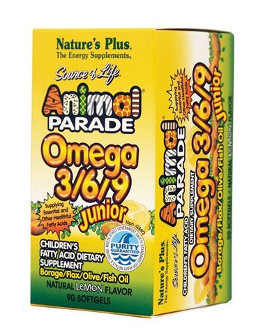 Nature's Plus Animal Parade Omega 3/6/9 Junior 90 Μαλακές Κάψουλες