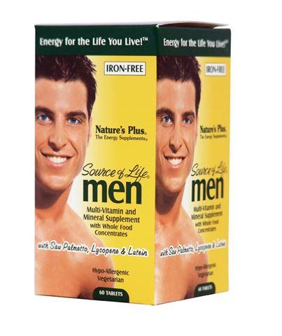 Nature's Plus Source Of Life Μen's Multi-Vitamin 60 Ταμπλέτες