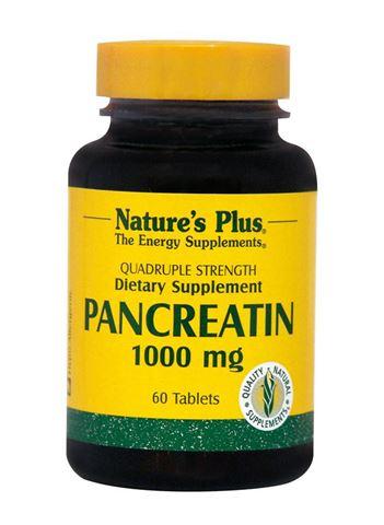 Nature's Plus Pancreatin 1000mg, 60 Ταμπλέτες
