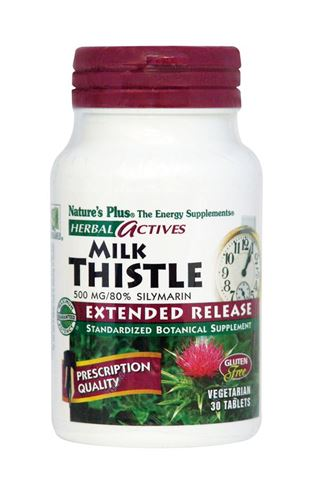 Nature's Plus Extended Release Milk Thistle 500mg, 30 Ταμπλέτες