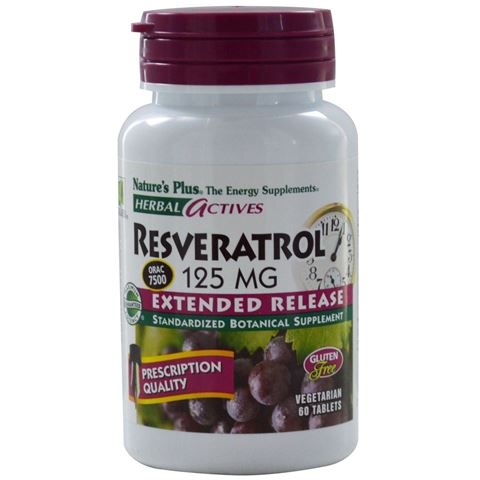 Nature's Plus Extended Release Resveratrol 125mg, 60 Ταμπλέτες