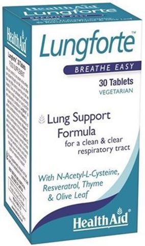 Health Aid Lungforte 30 Ταμπλέτες