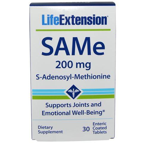 Life Extension SAMe (S-adenosyl-methionine) 200mg, 30 Ταμπλέτες