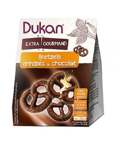 Dukan Pretzels Βρώμης με Επικάλυψη Σοκολάτας 100gr