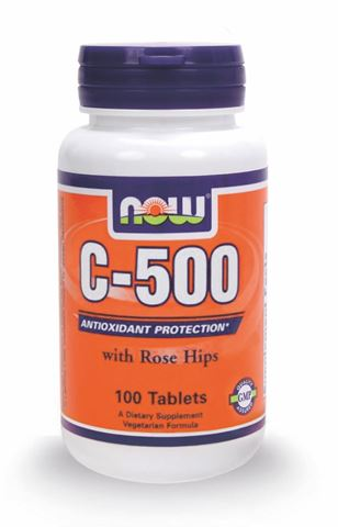 Now Foods C-500 with Rose Hips 100 Ταμπλέτες