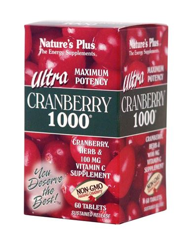 Nature's Plus Ultra Cranberry 1000mg, 60 Ταμπλέτες