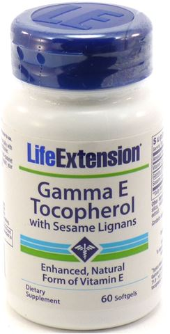 Life Extension Gamma E Tocopherol with Sesame Lignans,60 Μαλακές Κάψουλες