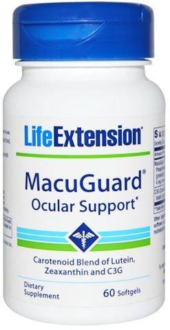 Life Extension MacuGuard Ocular Support, 60 Μαλακές Κάψουλες