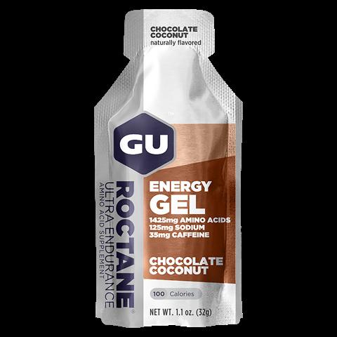 Ενεργειακό gel GU ROCTANE - Γεύση Σοκολάτα Καρύδα (Chocolate Coconut) - καφεΐνη 32gr