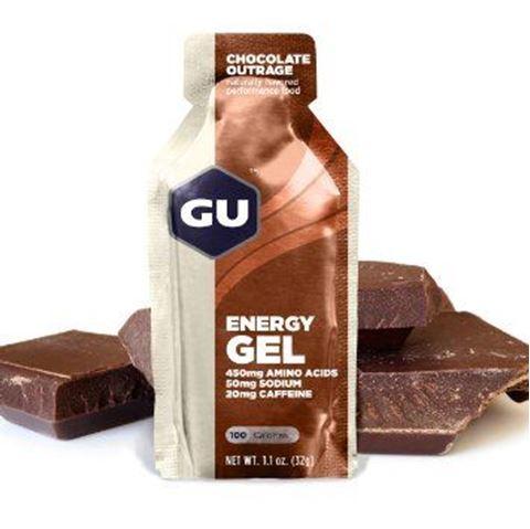 GU Ενεργειακό gel GU - Γεύση Σοκολάτα (Chocolate Outrage) - Καφεΐνη 20mg, 32gr