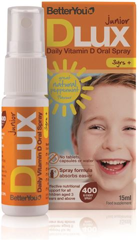 BetterYou Dlux Junior 400 IU spray D3, 15ml, 100 Ψεκασμοί