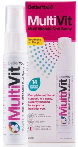 BetterYou MultiVit Υπογλώσσιο Πολυβιταμινούχο Spray, 25ml