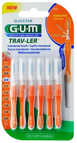 GUM 1412 Trav-ler Cylinidrical 0,9mm συσκευασία 6 τεμαχίων