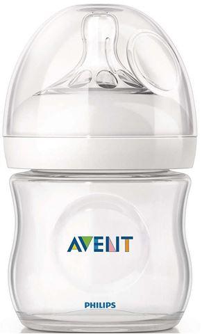 Avent Natural Πλαστικό  Μπιμπερο 125ml - χωρις BPA SCF690/17, 0m+