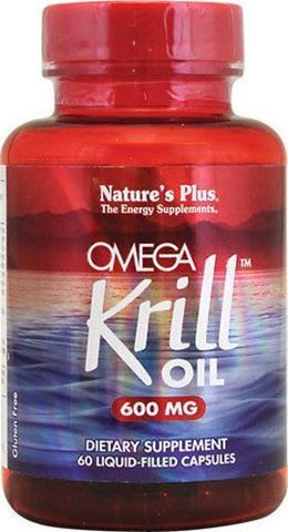 Nature's Plus, Omega Krill Oil 600mg, 60 Μαλακές Κάψουλες