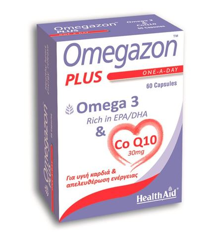 Health Aid Omegazon Plus, Ω3 & CoQ10, 60 Κάψουλες
