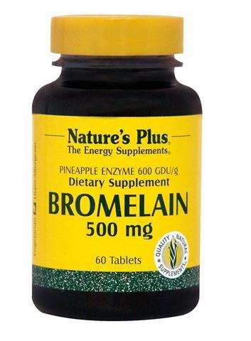 Nature's Plus Bromelain 500mg, 60 Tαμπλέτες