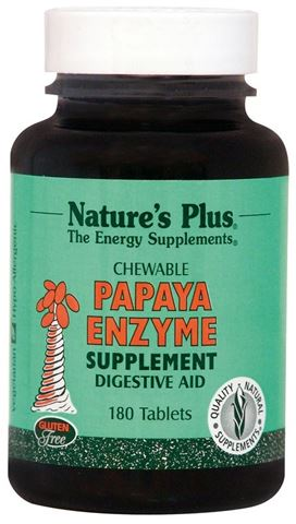 Nature's Plus Papaya Enzyme 180 Μασώμενες Ταμπλέτες