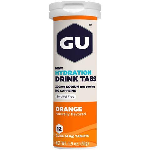 Ταμπλέτες Ηλεκτρολυτών GU - Γεύση Πορτοκάλι, 12 Αναβράζουσες Ταμπλέτες