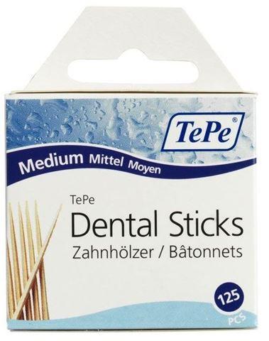 TePe Dental Sticks Οδοντογλυφίδες Συσκευασία 125 τεμαχίων