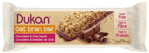 Dukan Γκοφρέτα βρώμης με Σοκολάτα & Σπόρους Chia 36gr, 1 Τεμάχιο