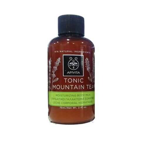 Apivita Tonic Mountain Tea Ενυδατικό Γαλάκτωμα Σώματος Μινιατούρα, 75ml