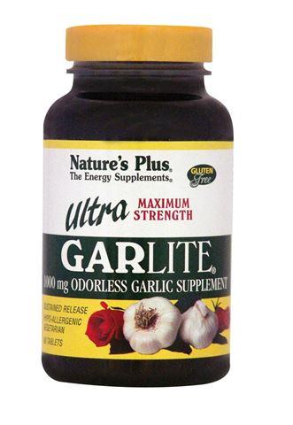 Nature's Plus Ultra Garlite 1000mg, 90 Φυτικές Κάψουλες