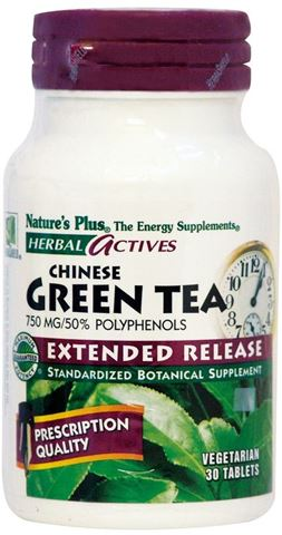 Nature's Plus Green Tea 750mg Extended Release 30 Tαμπλέτες