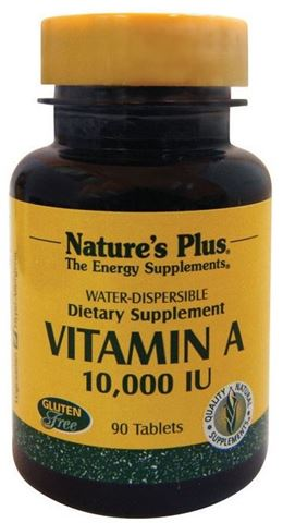 Nature's Plus Vitamin A 10000 IU, 90 Ταμπλέτες