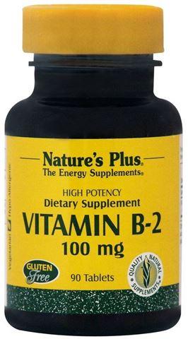 Nature's Plus Vitamin B-2 (Ριβοφλαβίνη) 100 mg, 90 Ταμπλέτες