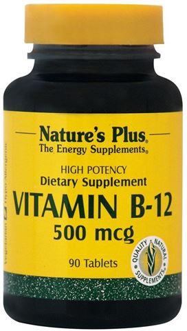 Nature's Plus Vitamin B-12 500mcg, Κοβαλαμίνη, 90 Ταμπλέτες