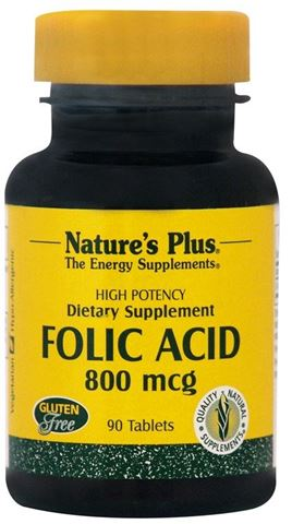 Nature's Plus Folic Acid 800mcg, 90 Ταμπλέτες